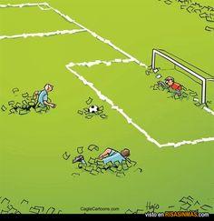Humor gráfico - El fútbol de hoy en día.