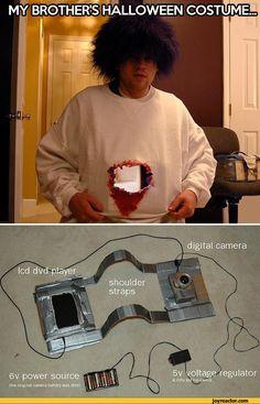 shoulderstraps5v voltage regulator& nitty led tupswiicft6v power source(ttve original camera battery was shot),Halloween,costume,hole