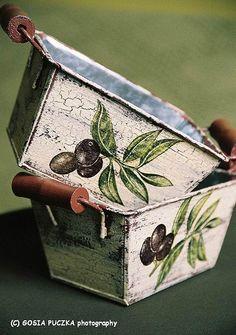decoupage. Craquelado,  ideas con estilo vintage. Vía www.decoyarte.com