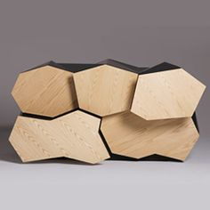 A piece of furniture created by Australian designer Jack Frost. The result of an interesting naturalistic study of the rural landscape.