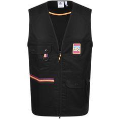 $81.0. ADIDAS ORIGINALS Jacket Adidas Adiplore Gilet Black #adidasoriginals #jacket #vest #cotton #clothing Black N Yellow, Red And Blue, Adidas Originals, The Originals, Stripes Design, Black Adidas, Adidas Logo, Vest, Menswear