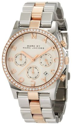 Women's watches Guide buy Marc by Marc Jacobs Multi-Function Silver Dial Two-tone Ladies Watch MBM3106