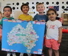 Use map of Canada on foyer bulletin board