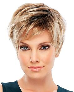 Large Cap Allure Classic by Jon Renau Wigs - My list of the most beautiful women's hair styles Short Pixie Haircuts, Short Hairstyles For Women, Prom Hairstyles, Natural Hairstyles, Hairstyle Ideas, Short Haircut, Over 60 Hairstyles, Teenage Hairstyles, Braided Hairstyles