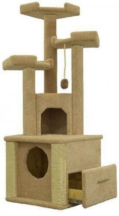 cat condo with hidden litter box #cats