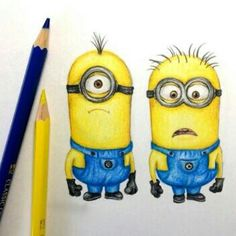 Minions c: Despicable Me draw emotions aNd expressions