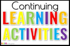 Let me share with you how my grade level is handling this and provide you an editable way to do this FREE continuing learning activities checklist.