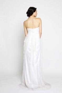 Love Story Romantic Swiss Dot Net Wedding Gown by clairelafaye