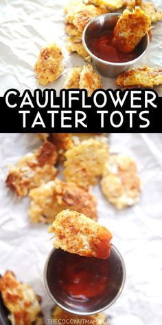 These crispy cauliflower tater tots are addicting and fun to eat as a snack or a dinner side dish. They're gluten-free and keto-friendly! Kraft Foods, Kraft Recipes, Paleo Recipes, Low Carb Recipes, Real Food Recipes, Cod Recipes, Cabbage Recipes, Noodle Recipes, Fudge Recipes