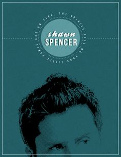 Really classy poster of Shawn Spencer