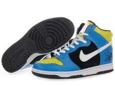 best sneakers 10017 1685f Nike Dunk High Running Man A Trak Blue Black Top Shoes, High Shoes, Blue