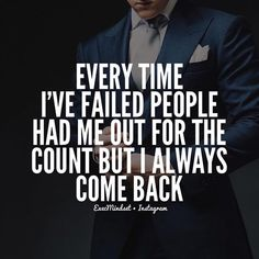 """You really can't give up.  You have too many people to prove wrong.  And besides you pushed yourself all this way for what?  To quit?  I don't think so.  Execs don't do that.  They persevere till they call """"Checkmate"""". Quote: Sylvester Stallone Image: @TheDapperHaus"""