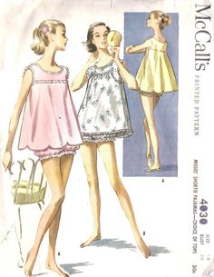 Baby Doll Pajamas...wore ones just like this my mother made me!!  Last pair I wore I took to college and all my roomates had to wear them...they were famous!!