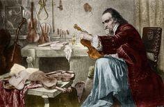 «Sobre Palacios, Stradivarius y Pasteles» por José Manuel López. Imagen: Hammann «Luthier Antonio Stradivari».