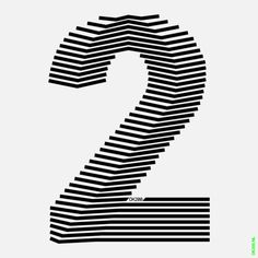 Duintjer Numeral 2 - cool looking 2 Cool Typography, Typography Letters, Typography Poster, Graphic Design Typography, Typography Inspiration, Graphic Design Inspiration, Type Design, Design Art, Op Art