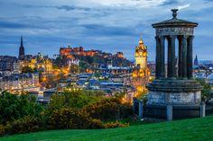 Edinburgh blue hour by Marco Kost on 500px