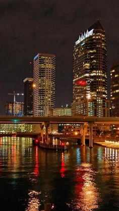 Night View of Tampa, Florida #letsgettogether and #hushpuppiesshoes