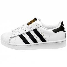 Adidas Superstar Child C77394 White Black Shell Toe Kids Sneakers Youth  Size 1