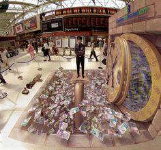 3D Street Art  money money