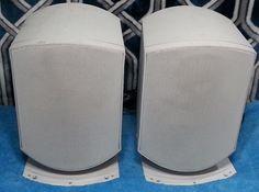 Rock Solid 150W Solid Magnetically Shielded Speakers w Stands #BW
