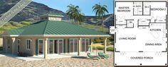   Beach House Plans - one level