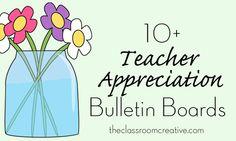 Teacher Appreciation Bulletin Boards and Door Decoration Ideas #teacher appreciation
