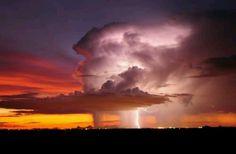 Lightning Storm - Tucson, Arizona - photo via woah - NATURE - clouds - purple / orange / yellow sky - earth All Nature, Science And Nature, Amazing Nature, Nature Pics, Tornados, Thunderstorms, Storm Photography, Nature Photography, Photography Women