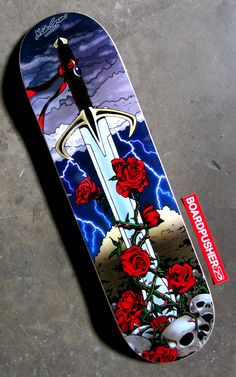"""There can only be one... or you can get a couple of today's Featured Deck, """"Sword and Roses"""", if you like at www.BoardPusher.com/shop/NickGreenArt."""