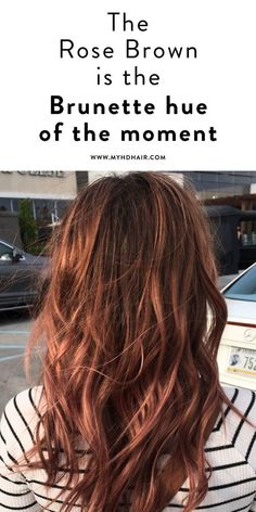 The Rose Brown is the Brunette hue of the moment. The Rose Brown is the Brunette hue of the moment. - Station Of Colored Hairs Hair Color And Cut, Cool Hair Color, Brown Hair Colors, Auburn Hair Colors, Brown Auburn Hair, Red Brown Hair Color, Black Hair, Rose Brown Hair Dye, Brown Hair Red Tips