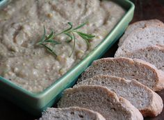 Roasted Garlic Spread: white beans, roasted garlic, lemon and fresh rosemary.  A great spread warm or room temperature.