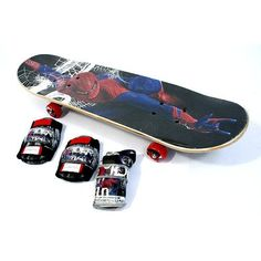 Street Flyers Skateboard Combo - Spider-Man by Street Flyers. $119.99. Give your child's Spidey senses a workout with this Street Flyers Skateboard Combo - Spider-Man. Outfitted with a 28-inch Spider-Man-themed skateboard, a safety helmet, and a bunch of protective body wear, including wrist guards, knee pads, and elbow pads, the kit offers everything your budding skateboarder needs to learn the craft. The skateboard itself is ready for any challenge, with a concave ...