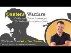 Content Marketing on Fire with John Lee Dumas   Content Warfare TV #entrepreneur #entrepreneuronfire