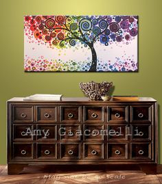 Rainbow Art Paintings Original Large Abstract by AmyGiacomelli