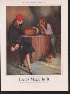1925 PEARS SOAP FORTUNE TELLER FLAPPWE GYPSY MAGIC CARD |