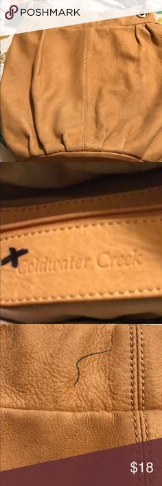 ladies yellow leather Coldwater creek handbag shows some slight signs of wear but still has much life left very nice large deep shoulder Bucket bag.please check out my closet while you're here I have meaning very nice items at very reasonable prices. share my listings and I will do the same for you make me an offer I can't refuse and happy poshing Coldwater creek Bags Satchels