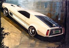 1968 Ford Mustang 427 Styling Artwork