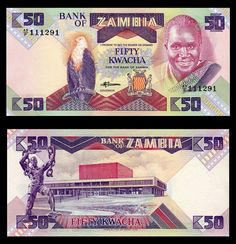 Billete Zambia 50 Kwachas (Building) – NUMISMÁTICA MARTELL