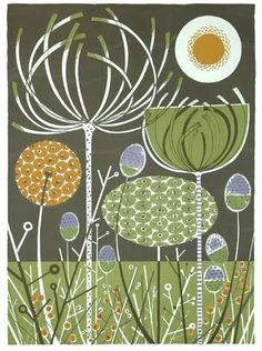 Angie Lewin is a lino print artist, wood engraver, screen printer and painter depicting the UK's natural flora in linocut and other limited edition prints. Charley Harper, Illustrations, Illustration Art, Angie Lewin, Printmaking, Drawings, Artwork, Street Art, Google Search