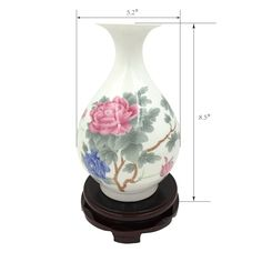 JSAron Handprinted Thin Porcelain Vase, Handmade craft,special design are inspired by the works of the ancient China