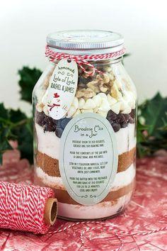 Weckgläser DIY für Weihnachtsgeschenkideen-Brownie-Rezept, Browniemischung verschenken