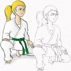 Mein erstes Karate-Buch  Der Karate-Weg der Kinder #karate #karatedo #do #shotokan #seisa #kinderbuch #buch #bücher #book #childrensbook #illustration #cartoons #kinder #amazon www.budo-books.com