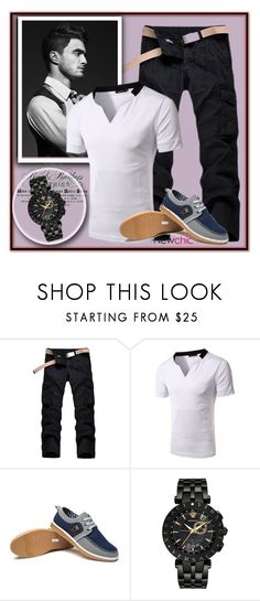 """""""newchic  18"""" by majaa12 on Polyvore featuring Radcliffe, Versace, men's fashion i menswear"""