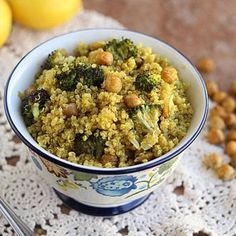 Moroccan-Spiced Quinoa with Roasted Broccoli and Chickpeas