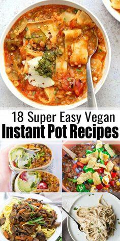 Easy Vegan Dinner, Vegan Dinner Recipes, Vegan Dinners, Vegan Recipes Easy, Whole Food Recipes, Cooking Recipes, Instapot Vegetarian Recipes, Vegan Recipes Crock Pot, Pressure Cooker Recipes Vegetarian