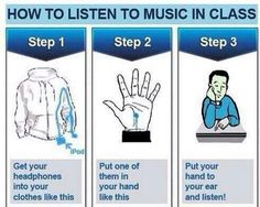 music, class, and school image