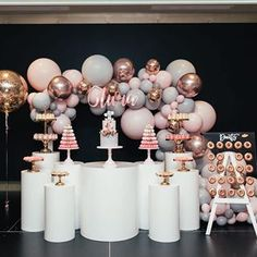 Olivias elephant themed party put together by the incredible 🐘🐘🐘 balloons by us dessert cups… Elephant Party, Elephant Birthday, 18th Birthday Party, Girl First Birthday, 21st Birthday Party Ideas For Girls, Wedding Reception Decorations, Birthday Party Decorations, 18th Party Themes, Baby Shower Themes