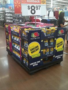 Fruit of the Loom Pallet Display, Fruit Of The Loom, Pinball, Walmart, Retail Displays, Branding, Shelf, Advertising, Packaging