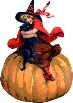vintage clip art retro orange and black pumpkin man halloween clip rh pinterest com vintage halloween clip art images vintage halloween clipart