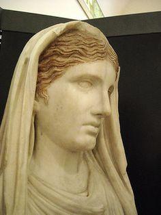 Statue of the priestess Eumachia (Tiberian age) - from Pompeii - Naples Archaeological Museum