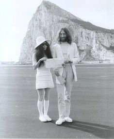 On Mach 20, 1969, John Lennon married Yoko Ono in Gibraltar.  They chartered an aeroplane to Gibraltar, on the advice of Apple employee Peter Brown and they went directly to the British Consulate Office, where they were married during a 10-minute ceremony performed by registrar Cecil Wheeler.